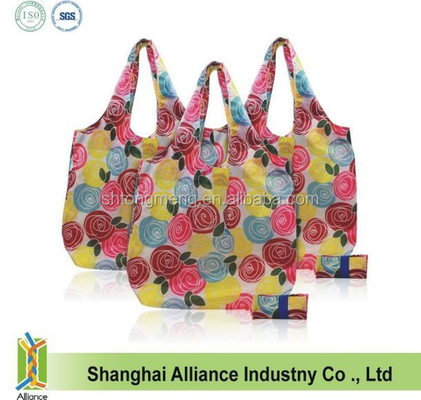 Portable Reusable Foldable Roll Up Eco-Friendly Grocery Shopping Bag(CF-273)