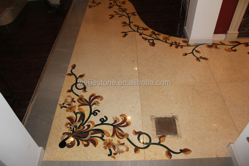 Marble flowers artistic accents floor and wall tile pattern picutre decoration