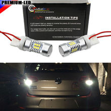 CANbus Error Free 21-SMD 7440 WY21W W21W T20 LED For Backup Reverse Light Bulbs