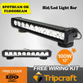 17 Inches 12V / 24V 100W 8050lm Cree Led Light Bar Led working light for SUV ATV Offroad Mining truck light