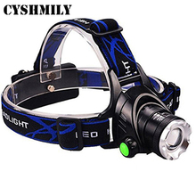CYSHMILY Zoomable Waterproof LED Headlight With 3 Modes,Rechargeable Battery,Hands-free Led Headlamp For Biking Camping Hunting