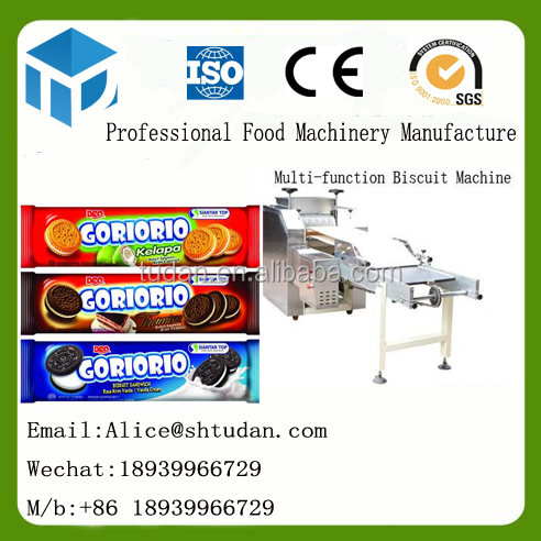 T&D Baking Food Machinery-Customized OREO sandwich biscuit making machine cookie bakery equipment waffle biscuits machine