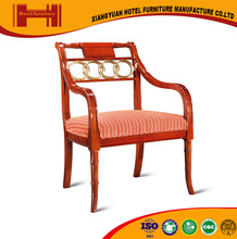 china supplier five-star hotel french style ISO18001 CE natural veneer hotel liquidation chair