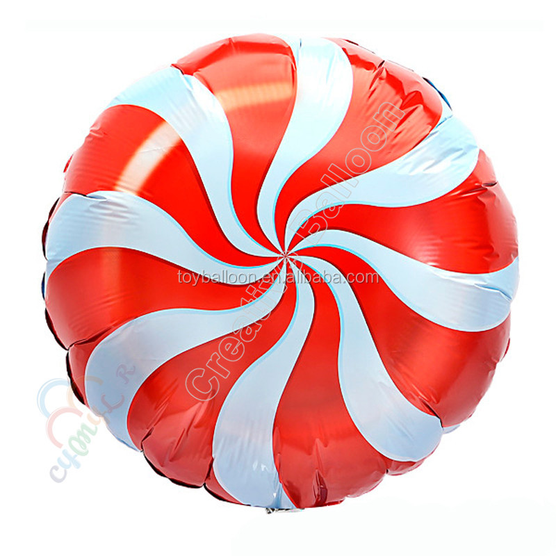 Happy New Year 2017 Helium Foil 18inch Round Inflatable Candy Shape Mylar Balloon For Party Decorations