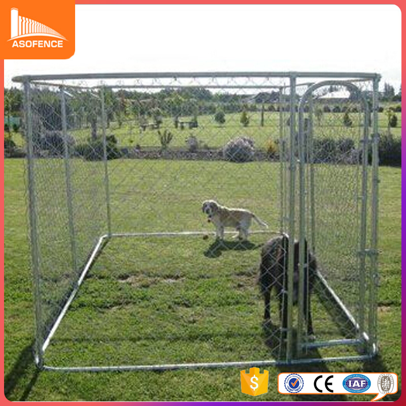 wholesale Large outdoor galvanized dog run kennel