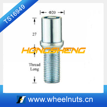 small diameter tuner lug bolt wheel locks for remoulded car