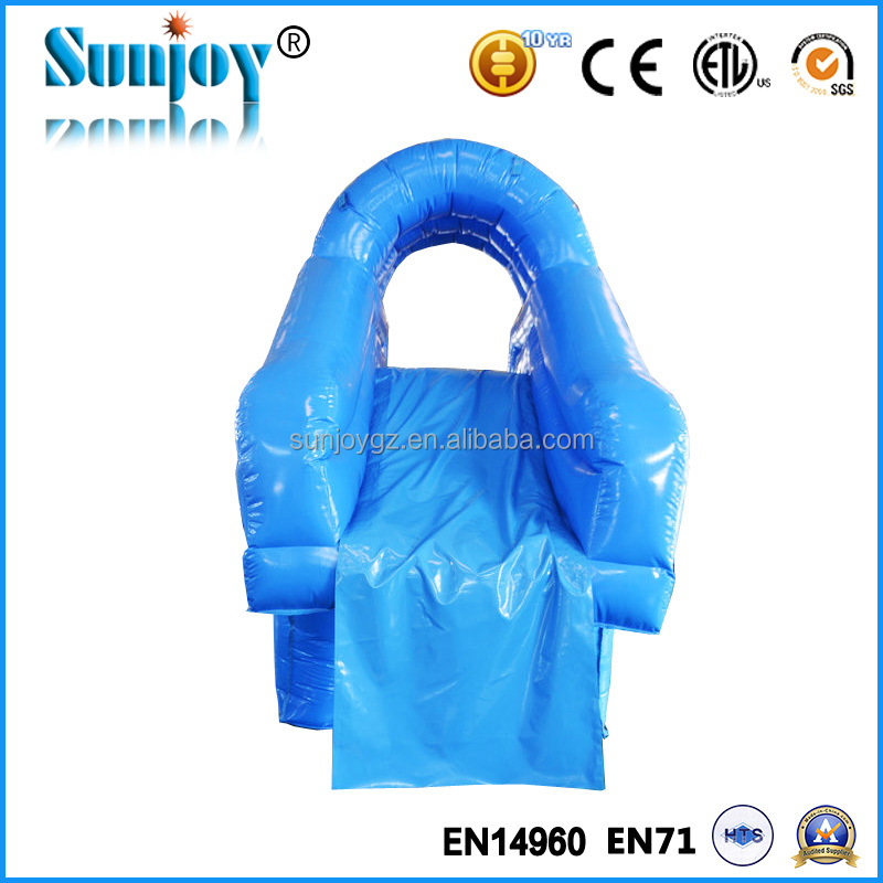 Customized inflatable swimming pool slides, inflatable pool slide with climbing wall, inflatable pool slides for inground pools