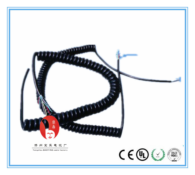 flexible curly cables power extension cord