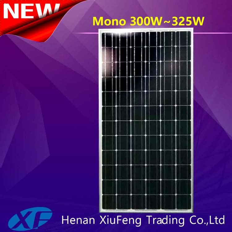 China manufacturer mono-crystalline 300watt 310w aluminum solar panel fram with TUV CE certification for El Salvador