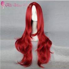 "Cheap Machine Made Heat Resistant Synthetic Fiber Natural Straight Wavy 35"" Long Red Jessica Rabbit Sex Wig Cosplay for Women"