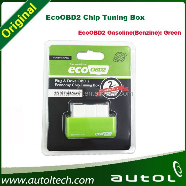 EcoOBD2 Chip Tuning Box Plug and Drive OBD2 Chip Tuning Box EcoOBD2 Gasoline(Benzine) Green color