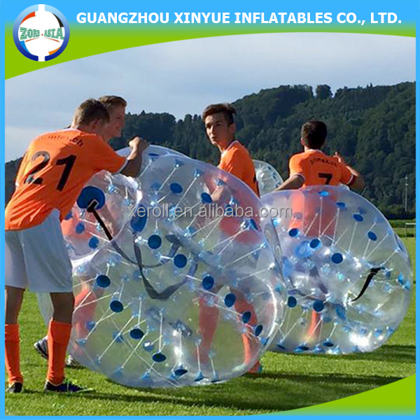 New design football bubble ball inflatable buddy bumper ball for adults