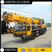 Most Popular Chinese Brand Hydraulic Truck Crane Mobile Crane 20t Tire Mounted Crane QY20B.5
