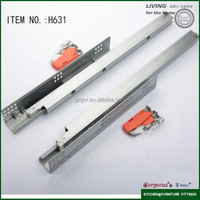 Gorgeous H631 self closing drawer slides with handle