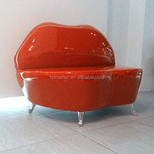 Relax kiss mouth PU rosy lip modern sofa