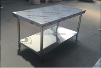 Hotel Restaurant kithen equipments Stainless Steel Work Table With Shelves