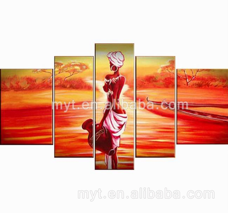Home Decor Wall Warm Color Africa Nude Woman Body Painting Beautiful Pictures