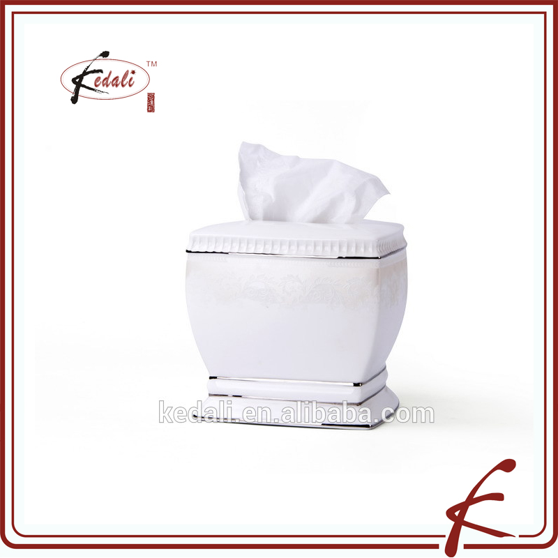 wholesale restaurant ceramic tissue box napkin holder