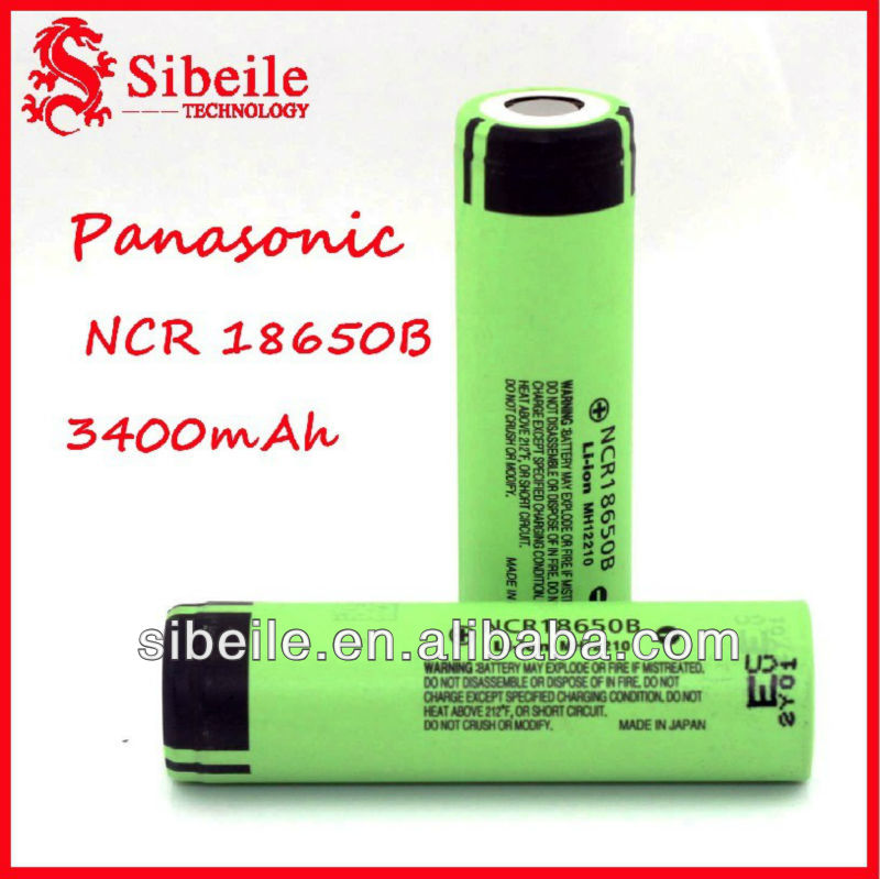 panasonic3.7V 18650B 3400MAH Li-ion rechargeable battery panasonic 18650