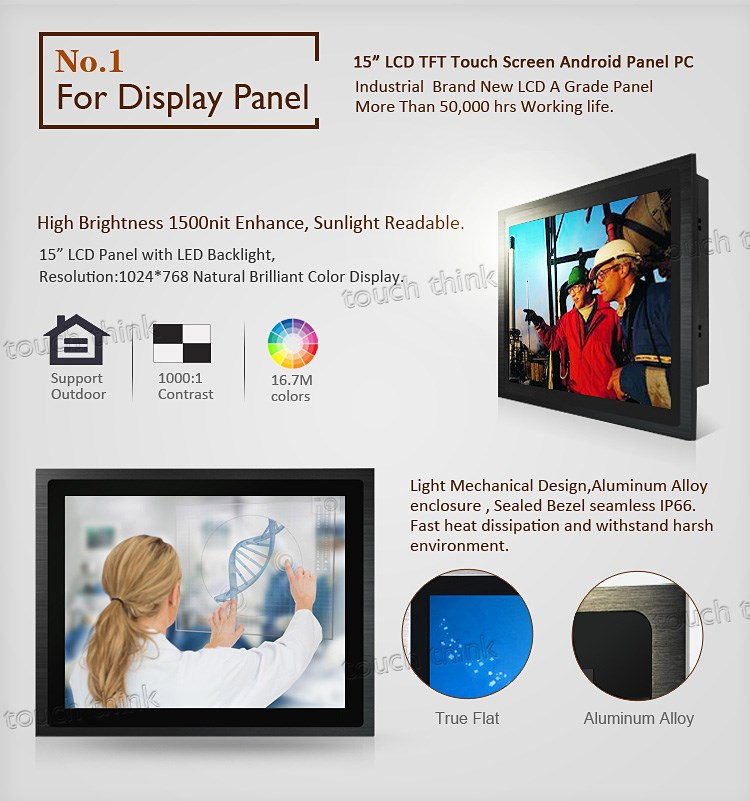 20% off 12 Inch Panel Computer Slim Bezel Waterproof Touch Screen Industrial Android Tablet PC