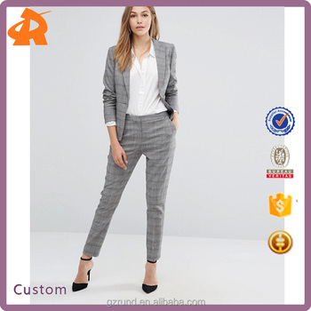 Cool Handsome Good Looking Stylish Trousers, High Fashion Pants Design Grey Reiss Check Pant Suit
