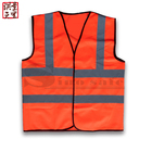 100% polyester High Visibility safety Vest with reflective strips