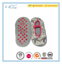 women size knitting sock indoor slipper with soft pvc dots