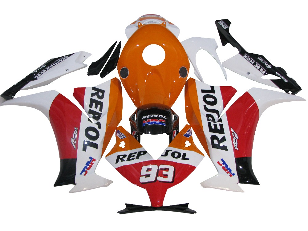 CBR1000RR 2012 2013 2014 CBR1000 12 13 14 Injection Motorcycle Fairing Kit Orange Red Repsol