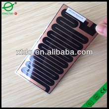 electric flxible PET heating film for rearview mirror used in car 165*110mm CE