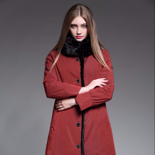 High quality OEM service Winter Warm Fur Long Mink Fur Coat for Women