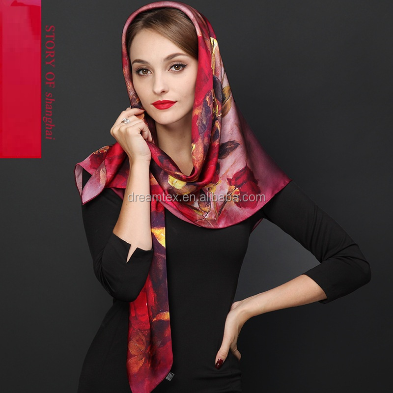 Hot sales high quality women silk <strong>scarf</strong>