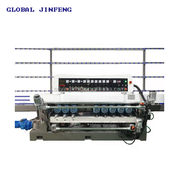 JFB261 9 Motors Straight line beveling and polishing machine to bevel glass