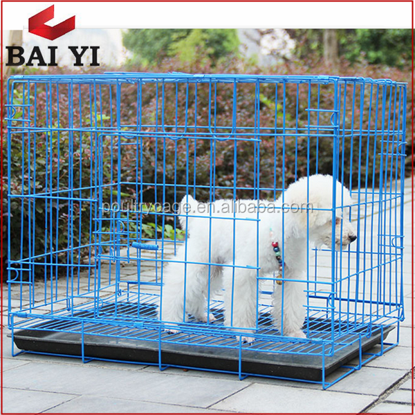 High Quality PVC Coated Galvanized Welded Steel Dog Cage For Sale Cheap
