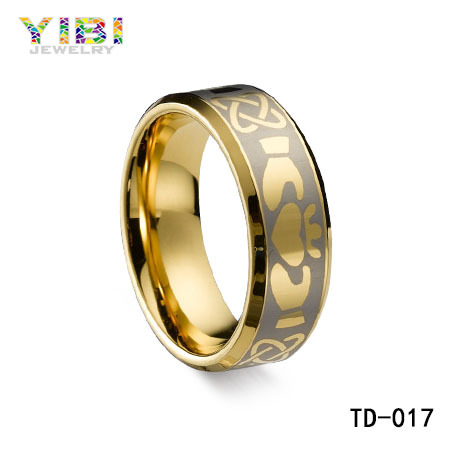 Tungsten Carbide Wedding Rings Sapphire Plated Gold Tungsten Bar