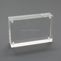 Clear acrylic magnet photo frames, display stand, name card holder