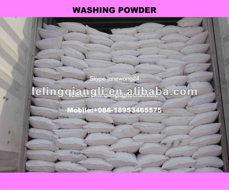 Chemical formula of washing powder factory