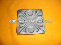 Ornamental cast iron wrought base square shoes with various kinds