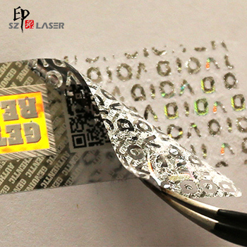 3d Custom Hologram Security Void Sticker with QR Code Printing