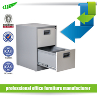 Modern white office file storage knock down 2 drawer iron filing cabinet