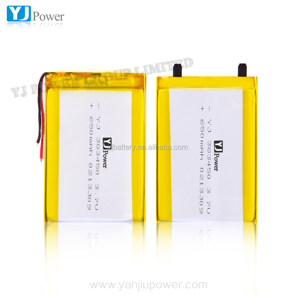 China supplier lithium battery pack 3.7v383450 650mah rechargeable lipo battery with battery cable