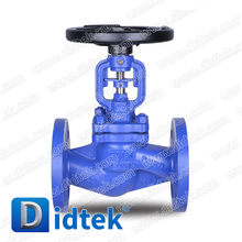 Didtek Double Seal Design WCB Flange Ends Bellow Globe Valve