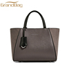 saffiano suede leather women straps handbags lady tote bag with zip closure and metal key ring