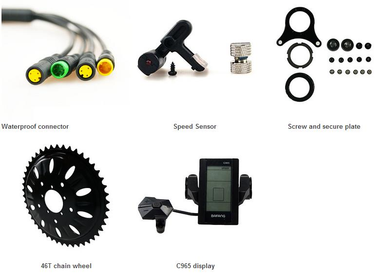 BBSHD 48V1000W E Bike Kit with C961 displayer