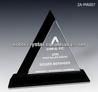 Noble New Design Power Triangle Crstal Plaque