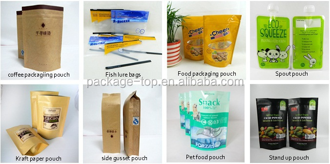 Clear Gold Foil Bag Food Packaging Aluminium Plastic Bags