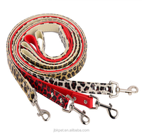 2017 120CM high quality pu leather fashion pet dog leashes with Leopard patterns