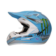 China high quality blue dirt bike motorcycle helmets for sale