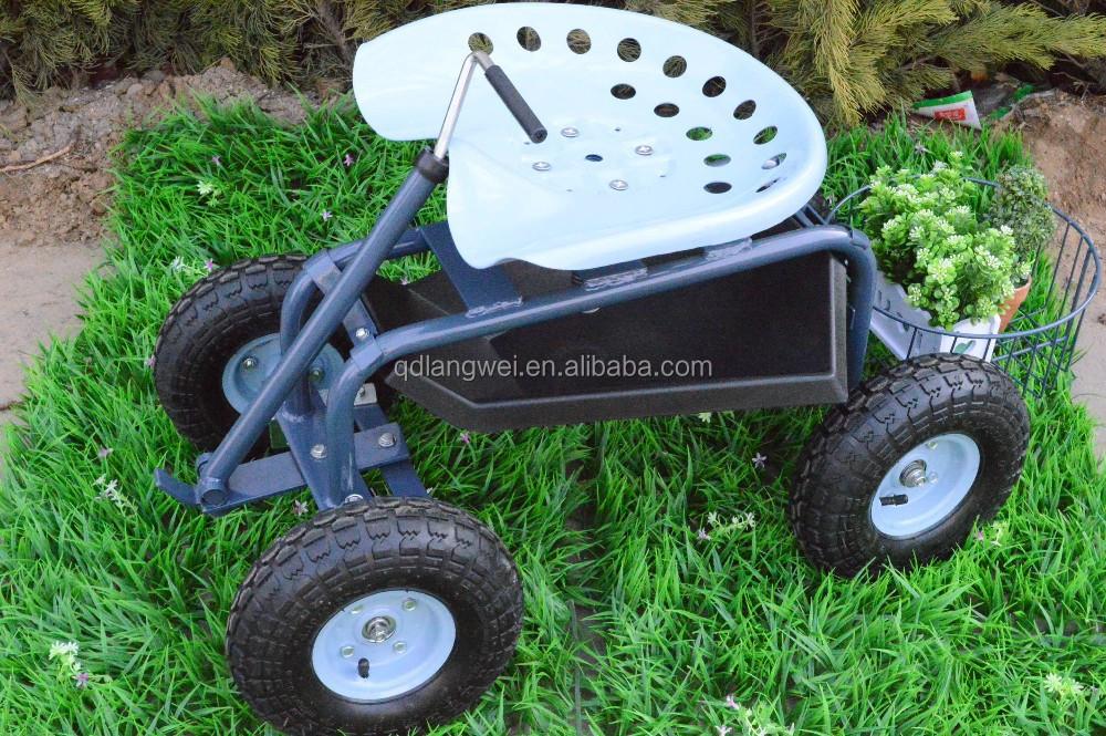 garden cart chair seat scooter wheelbarrow utility yard