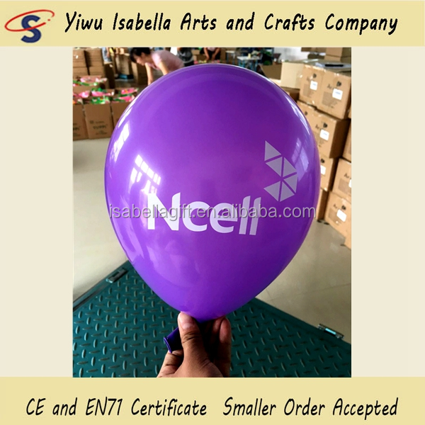 Factory Supplier Low MOQ Cheap Latex Custom Printed Balloon Wholesale Promotional Use