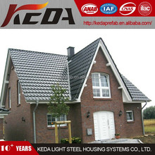 Cheap and strong construction steel prefab house prefabricated wooden villa